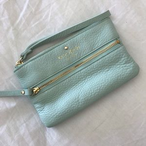 Kate Spade Light Blue Wristlet/Clutch